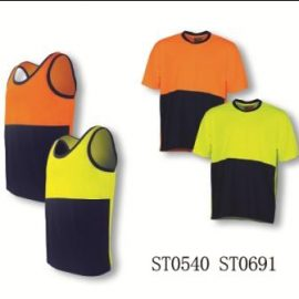 540-poly cottonback singlet n 691-safety tee